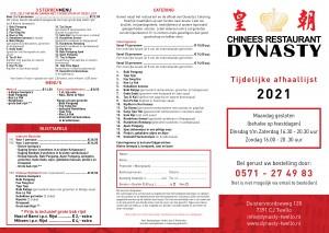 Dynasty Afhaalkaart 202